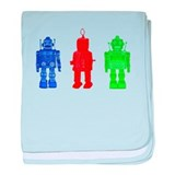 Robot Friends baby blanket