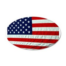 USA Flag 22x14 Oval Wall Peel