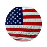 USA Flag Ornament (Round)