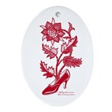 High heel's Flower R Ornament (Oval)