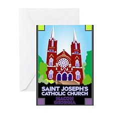 St Joseph, Macon Greeting Card