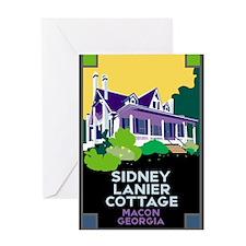 Sidney Lanier Cottage, Macon Greeting Card