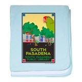 South Pasadena Library baby blanket