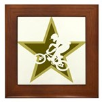 BMX Star Framed Tile