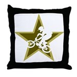 BMX Star Throw Pillow