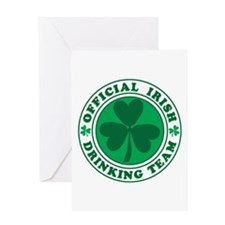 Official IRISH Drinking Team Greeting Card