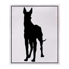 Great Dane Silhouette Throw Blanket