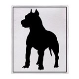 Pitbull Silhouette Throw Blanket