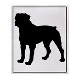 Rottweiler Silhouette Throw Blanket