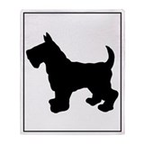 Scottish Terrier Silhouette Throw Blanket