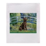 Bridge / Labrador (Choc) Throw Blanket