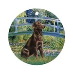 Bridge / Labrador (Choc) Ornament (Round)
