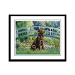 Bridge / Labrador (Choc) Framed Panel Print