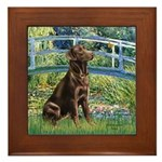Bridge / Labrador (Choc) Framed Tile