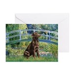 Bridge / Labrador (Choc) Greeting Cards (Pk of 20)