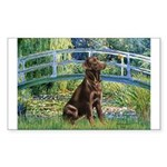 Bridge / Labrador (Choc) Sticker (Rectangle)