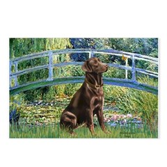 Bridge / Labrador (Choc) Postcards (Package of 8)