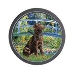 Bridge / Labrador (Choc) Wall Clock