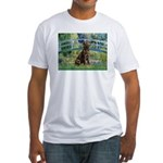 Bridge / Labrador (Choc) Fitted T-Shirt