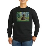 Bridge / Labrador (Choc) Long Sleeve Dark T-Shirt