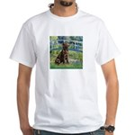 Bridge / Labrador (Choc) White T-Shirt