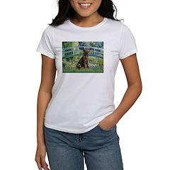 Bridge / Labrador (Choc) Women's T-Shirt