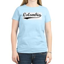 Vintage Colombia Women's Pink T-Shirt