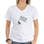 SAVE California Libraries Women's V-Neck T-Shirt