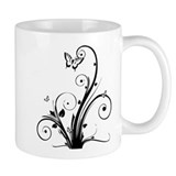 Swirly Butterflies Mug