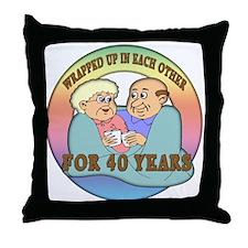 40th Wedding Anniversary Throw Pillow