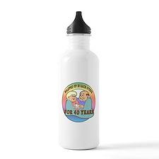 40th Wedding Anniversary Water Bottle