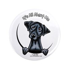 "Black Lab IAAM 3.5"" Button"