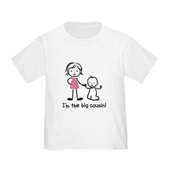 Big Cousin - Stick Characters Toddler T-Shirt