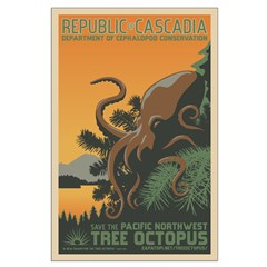 """""""A New Dawn"""" Tree Octopus Large Poster"""