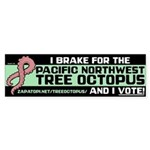 Tentacle Ribbon Bumper Sticker