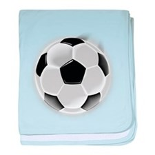 CRAZYFISH soccer ball baby blanket