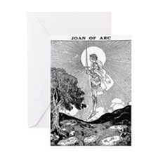 Cute Joan of arc Greeting Card