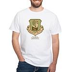 Sasquatch Militia Insignia White T-Shirt