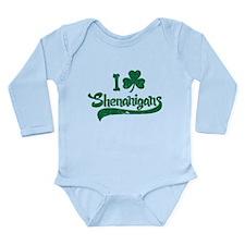 I Shamrock Shenanigans Long Sleeve Infant Bodysuit