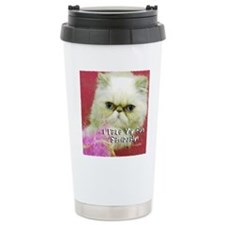 White Persian and Pink Ceramic Travel Mug
