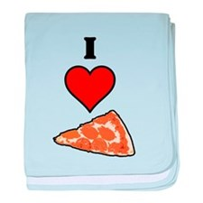 I heart Pizza Slice baby blanket