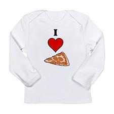 I heart Pizza Slice Long Sleeve Infant T-Shirt