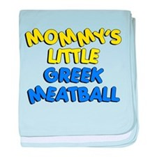 Mommy's Little Greek Meatball baby blanket