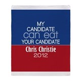 Funny Chris Christie 2012 Throw Blanket