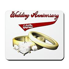 60th Wedding Anniversary Mousepad