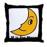 M is for Moon Throw Pillow
