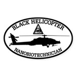 Black Helicopter Nanobiotechnician Sticker