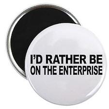 I'd Rather Be On The Enterprise Magnet