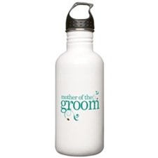 Mother of the Groom Swirl Sports Water Bottle