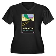 Hermon, Monterey Pass Women's Plus Size V-Neck Dar